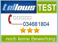 tellows Bewertung 034681804