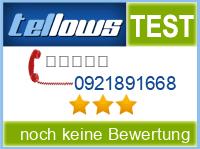 tellows Bewertung 0921891668