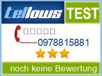 tellows Bewertung 0978815881